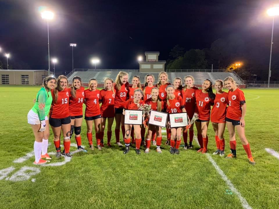Celebrating our seniors with their special gifts on Senior Night 2019!