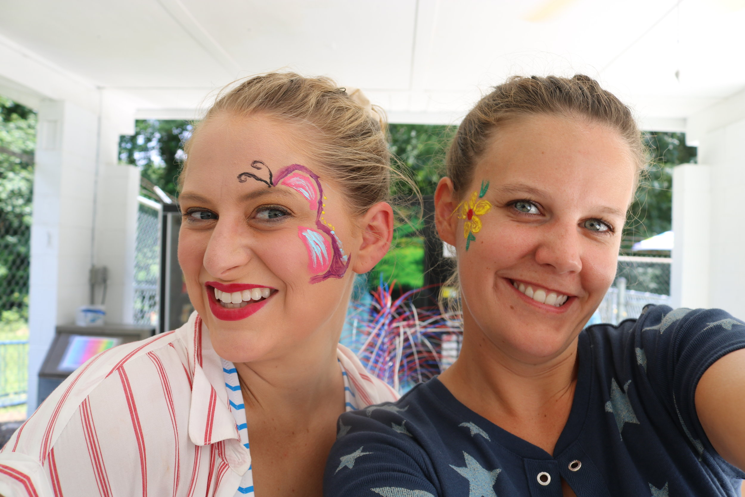 My wife and her best friend had a great time at the face-painting station.