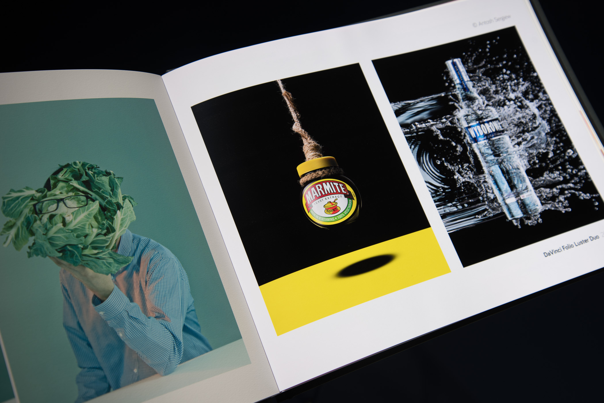 Screwpost binding allows portfolio spreads without the need for acetate sleeves. Image content © Phil Fisk,©Antosh Sergiew