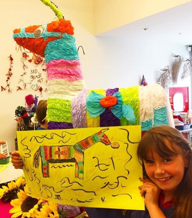 Group made piñata