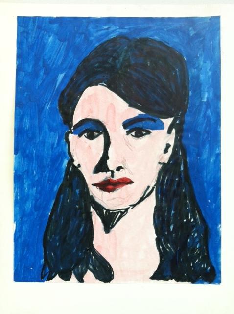 Teen pop art Warhol inspired portrait