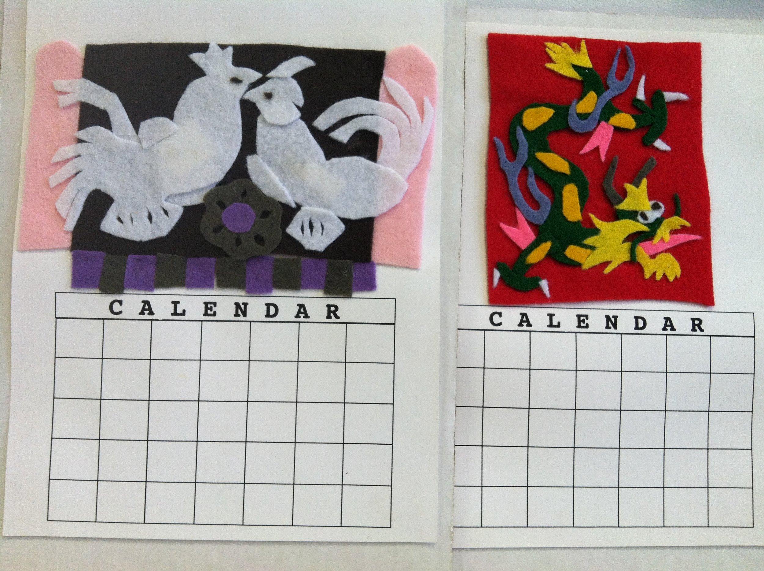 Calendar folk style felt from So Made Kit