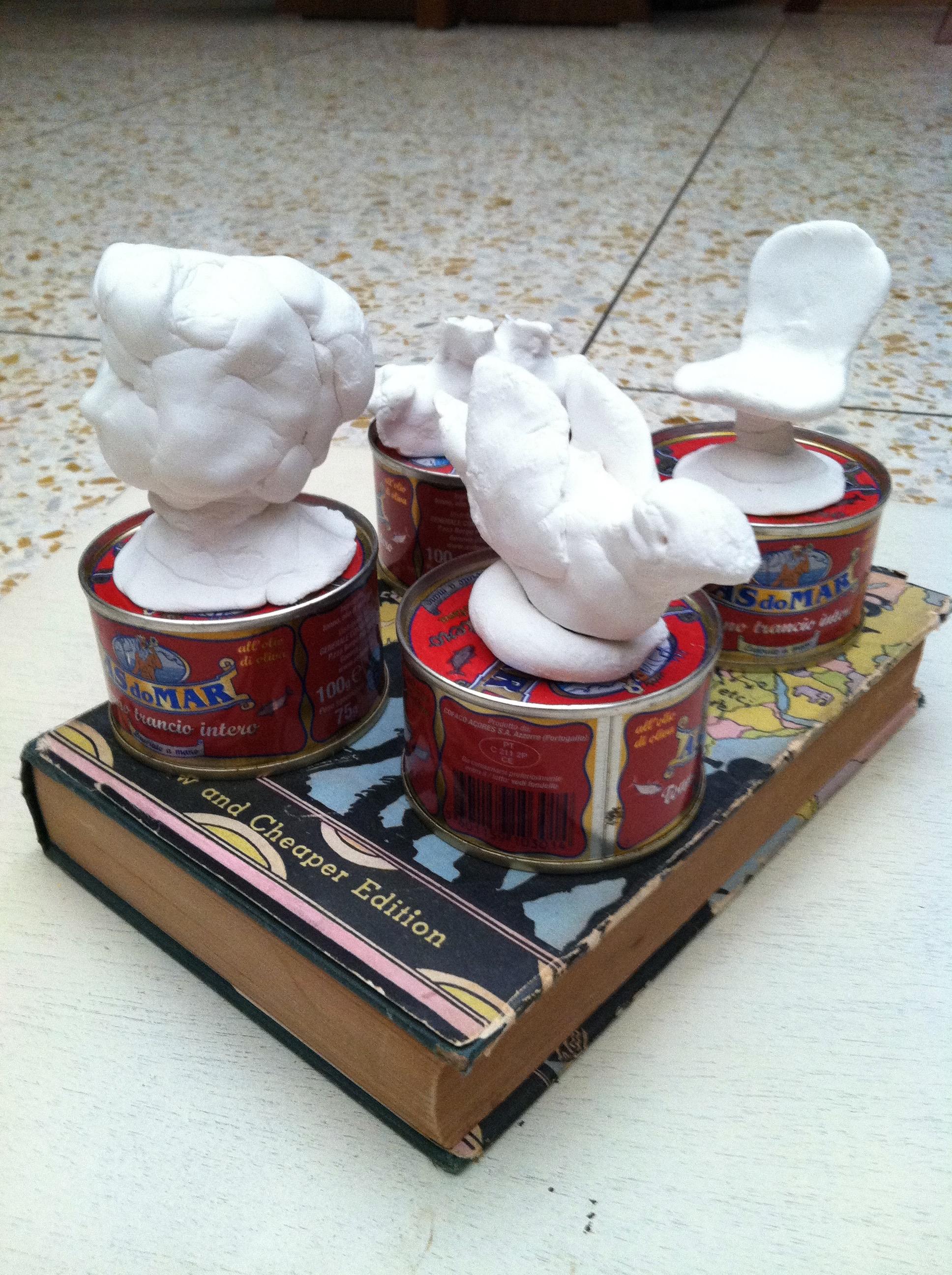 Plaster narrative sculptures from So Made workshop