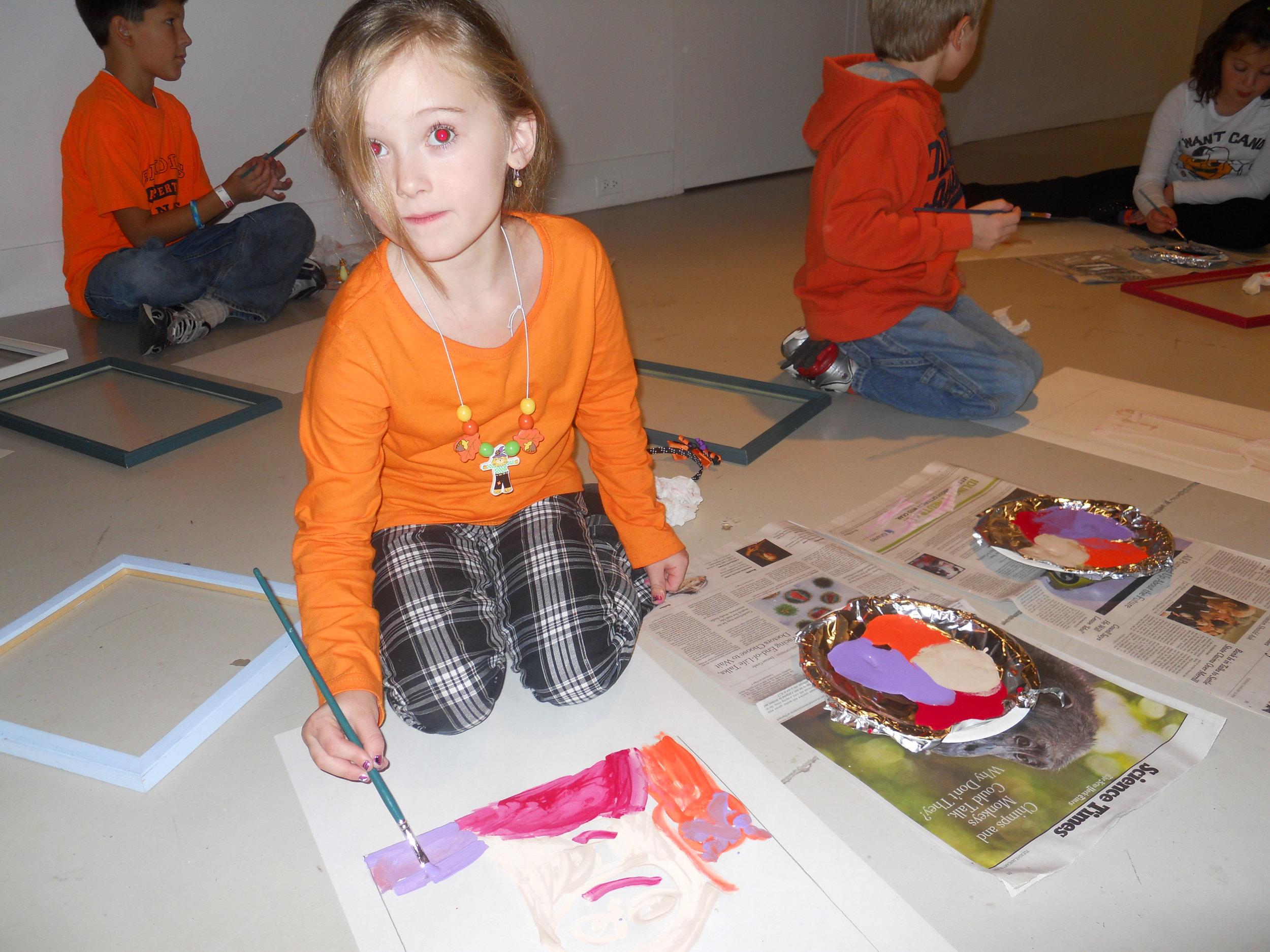 Portrait in progress from workshop after art gallery tour