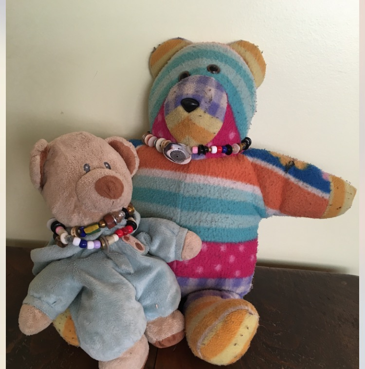 Bears with necklaces