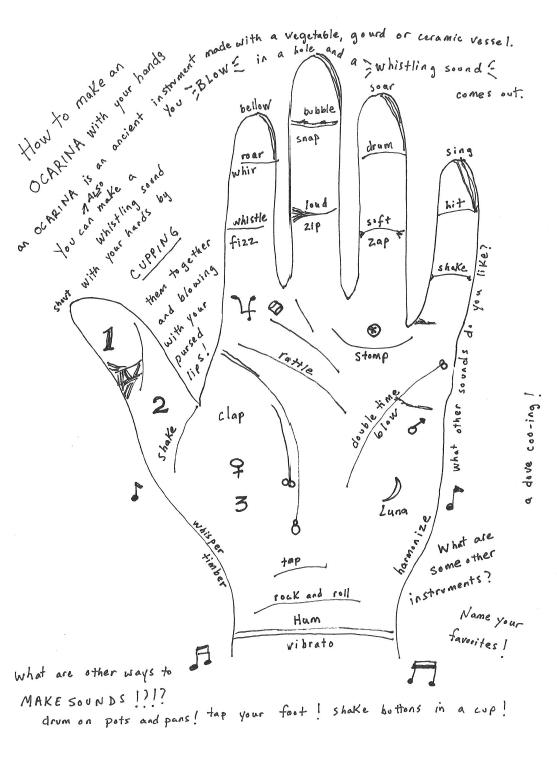 Musical hand flyer