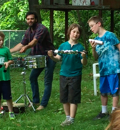 Jamming with home made instruments