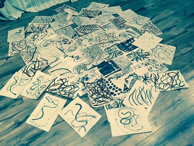 Dharma Art brushwork paintings from workshop