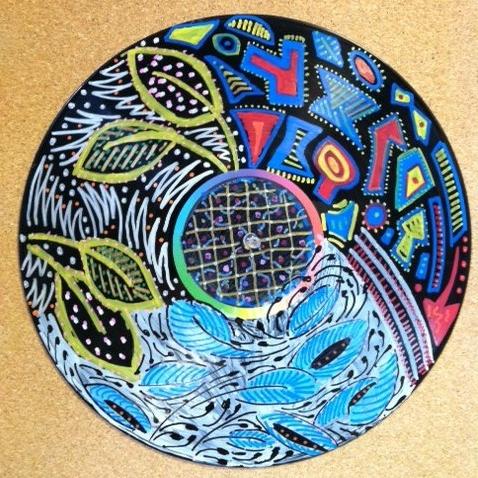 Vinyl art from teen workshop