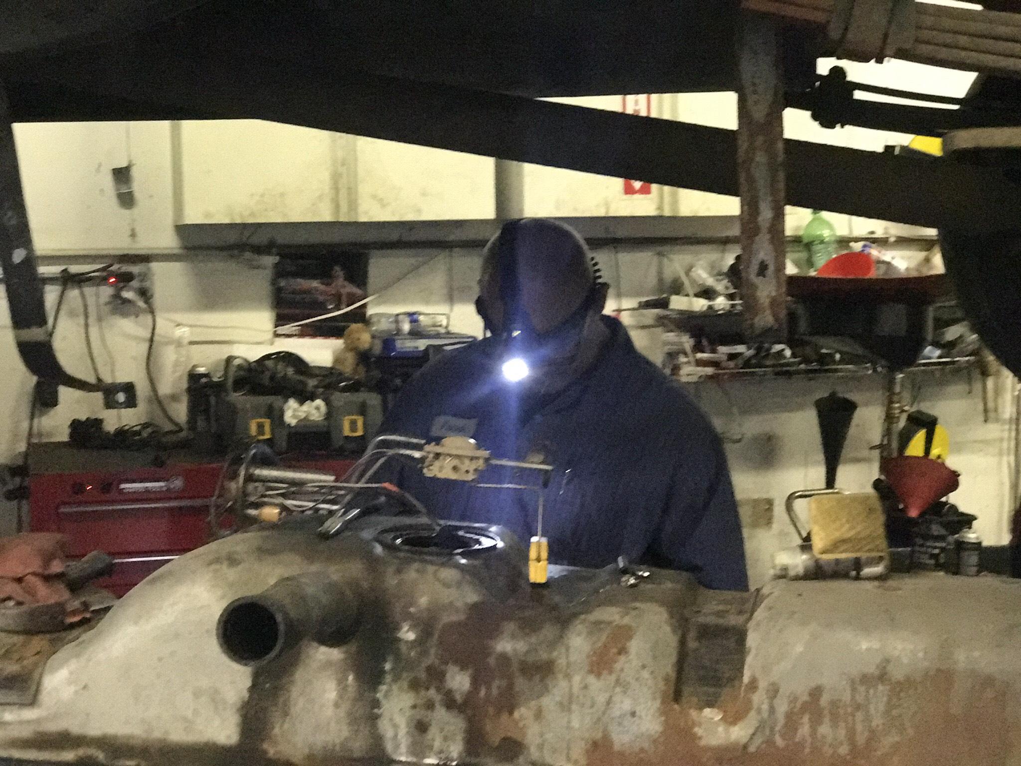 Gas tank repair.