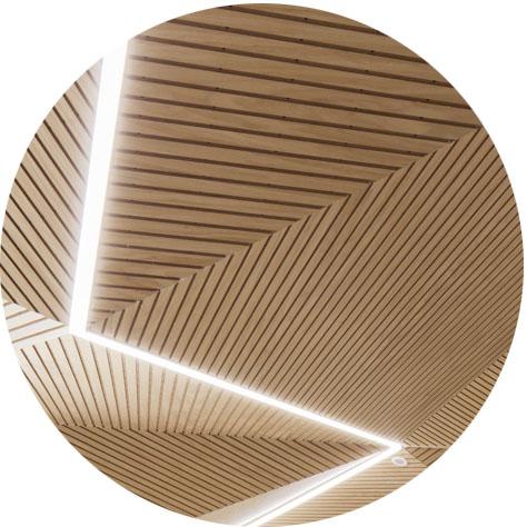 Wooden Illuminated Ceilings