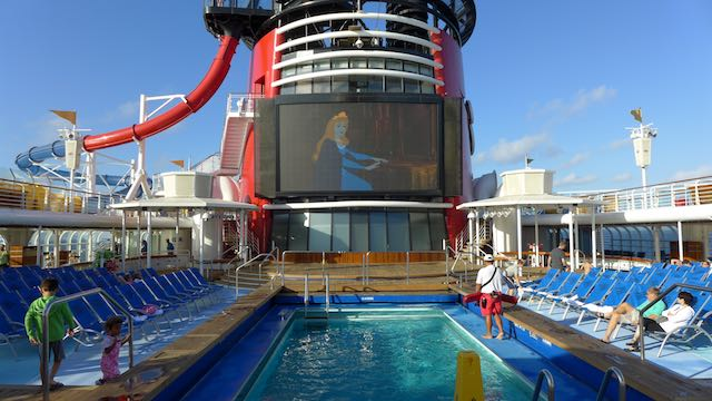 Deck 9 pool, water slide, and endless movies