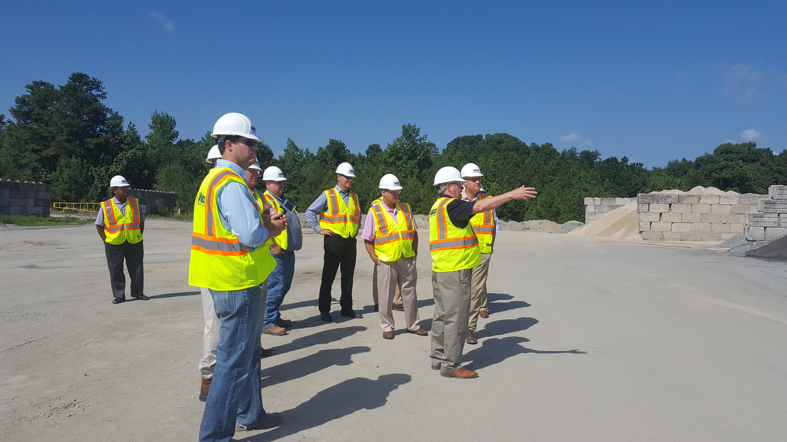 GRMCA gives Rob Woodall a plant tour at the Martin Marietta quarry in Augusta, GA.