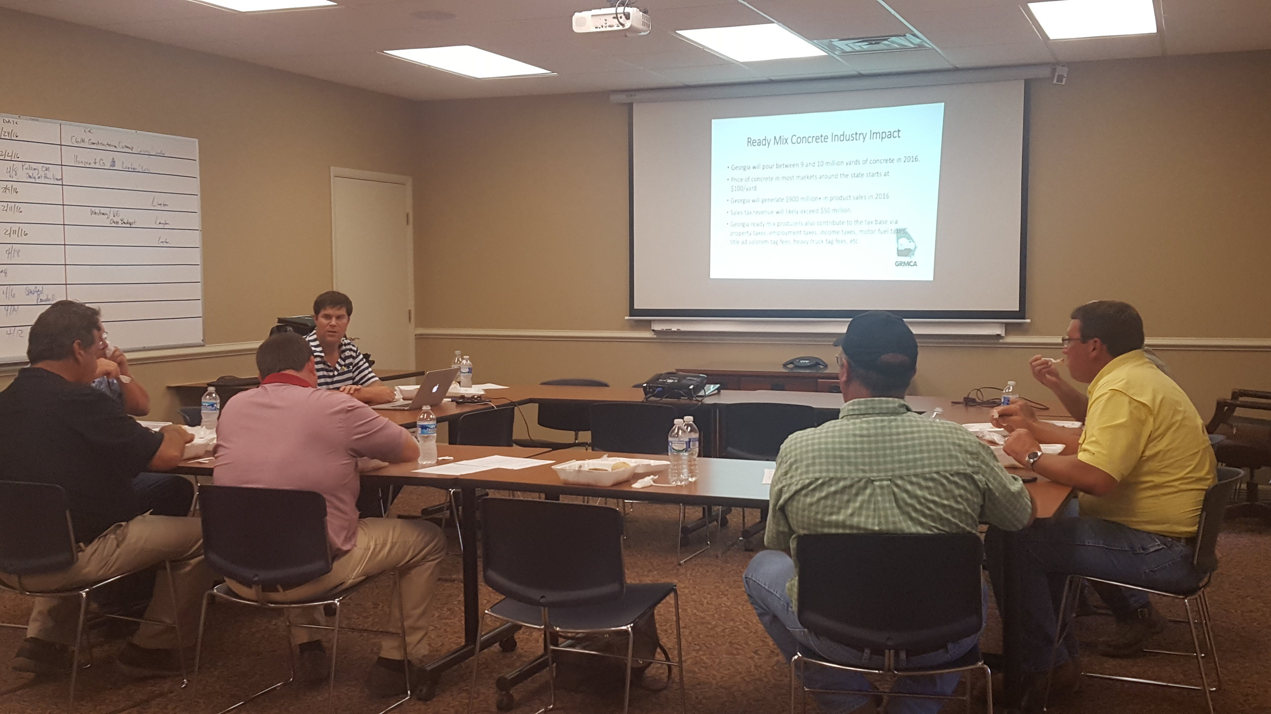 GRMCA Executive Director Jimmy Cotty gives a presentation on manufacturers' tax exemptions for the Ready Mix Industry.