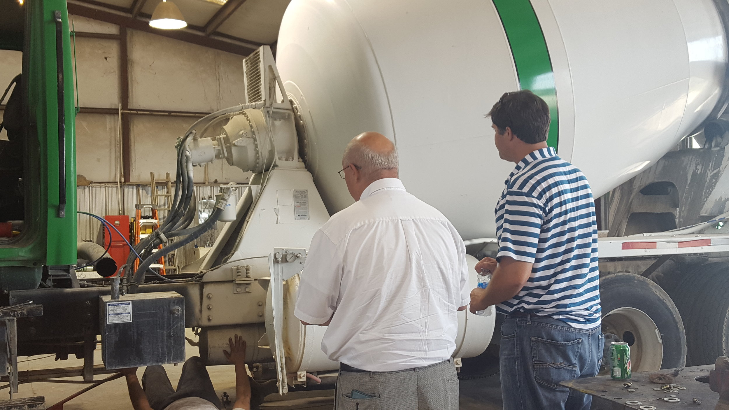 Jason Wiggins and Don Scozzari of Concrete Enterprises hosted State Representative Ed Rynders at their Albany plant.