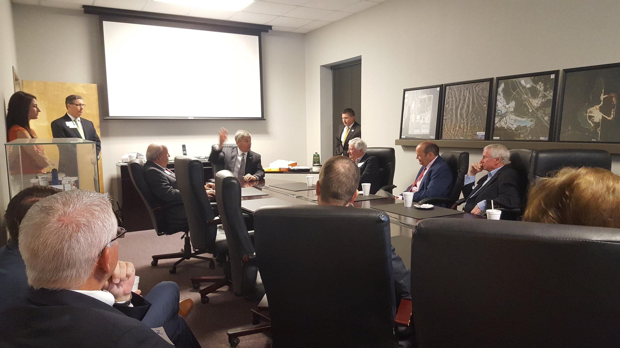 Rep. Rob Woodall talks infrastructure at the Martin Marietta quarry in Augusta, GA.