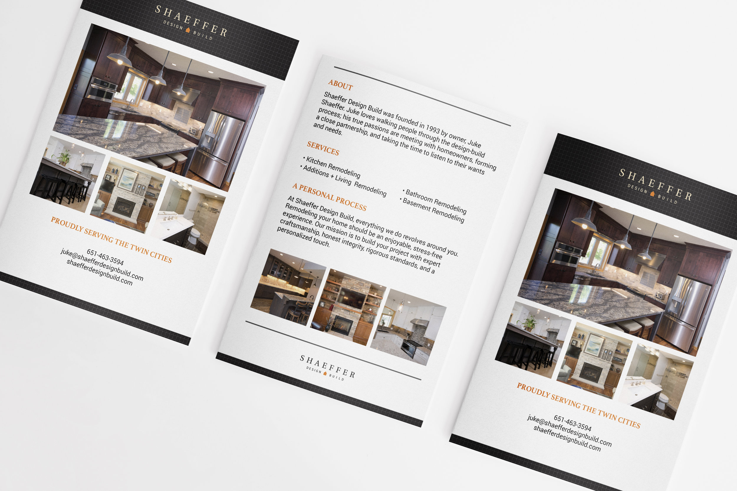 Shaeffer Design Build Remodeler Marketing Brochure