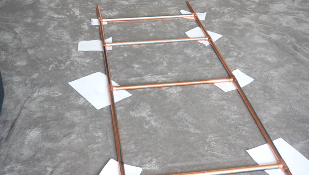 Spray Painted Ladder For DIY Copper Pipe Ladder Project.jpg