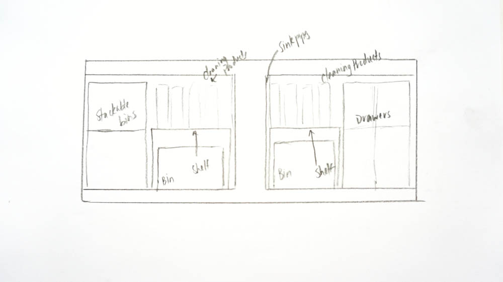 Sketch Of Bathroom Space Before Professional Organizer Session with Rescue My Space.jpg