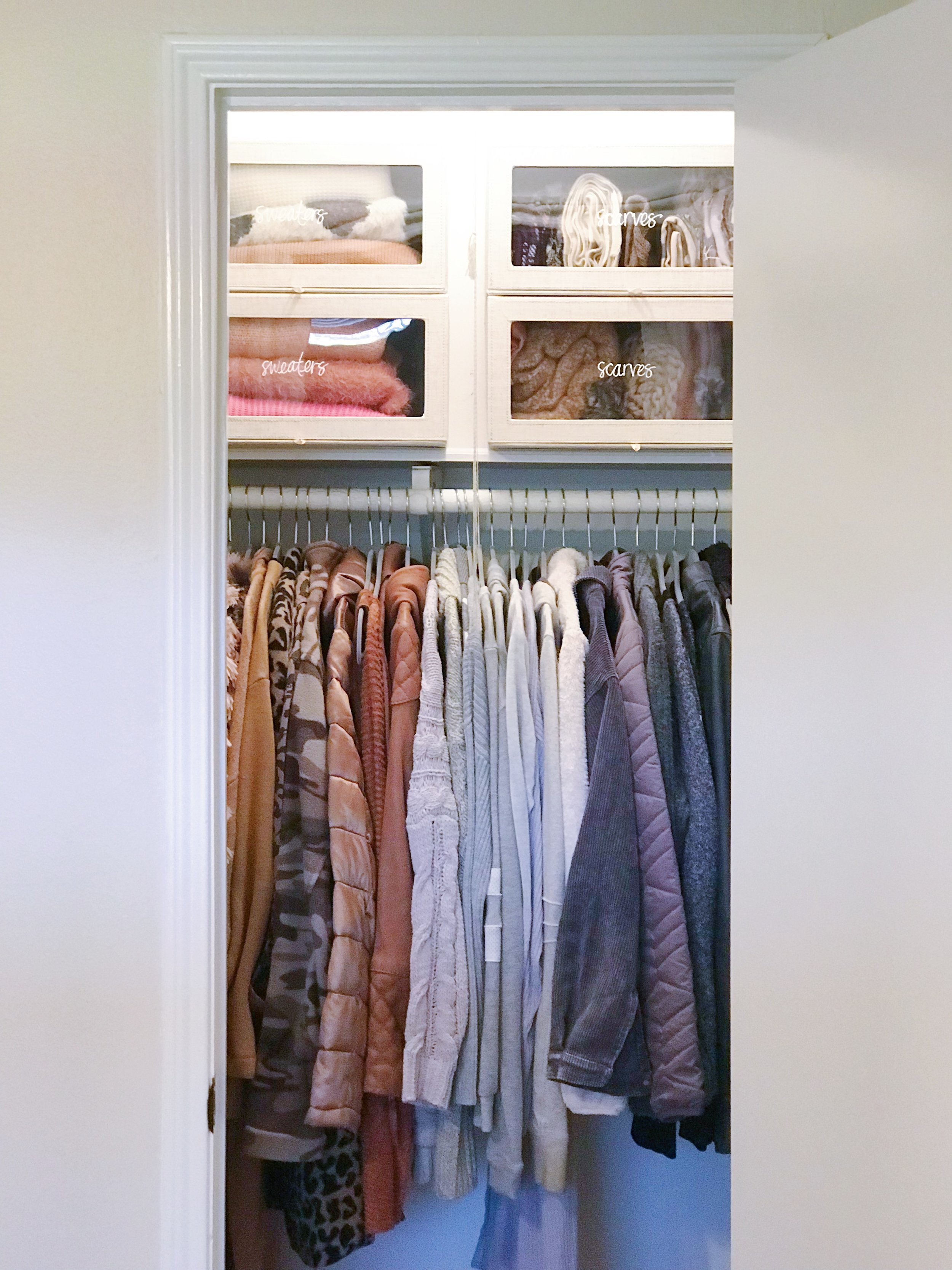 After photo of a client's Winter Closet