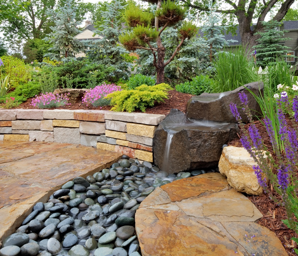 Edina garden has Asian inspiration throughout. The beauty of the landscape combined with the tranquility and serenity of the space melt all your worries away.