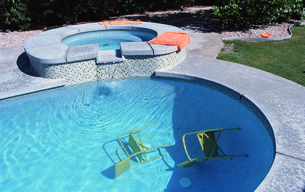 chairs in the pool.