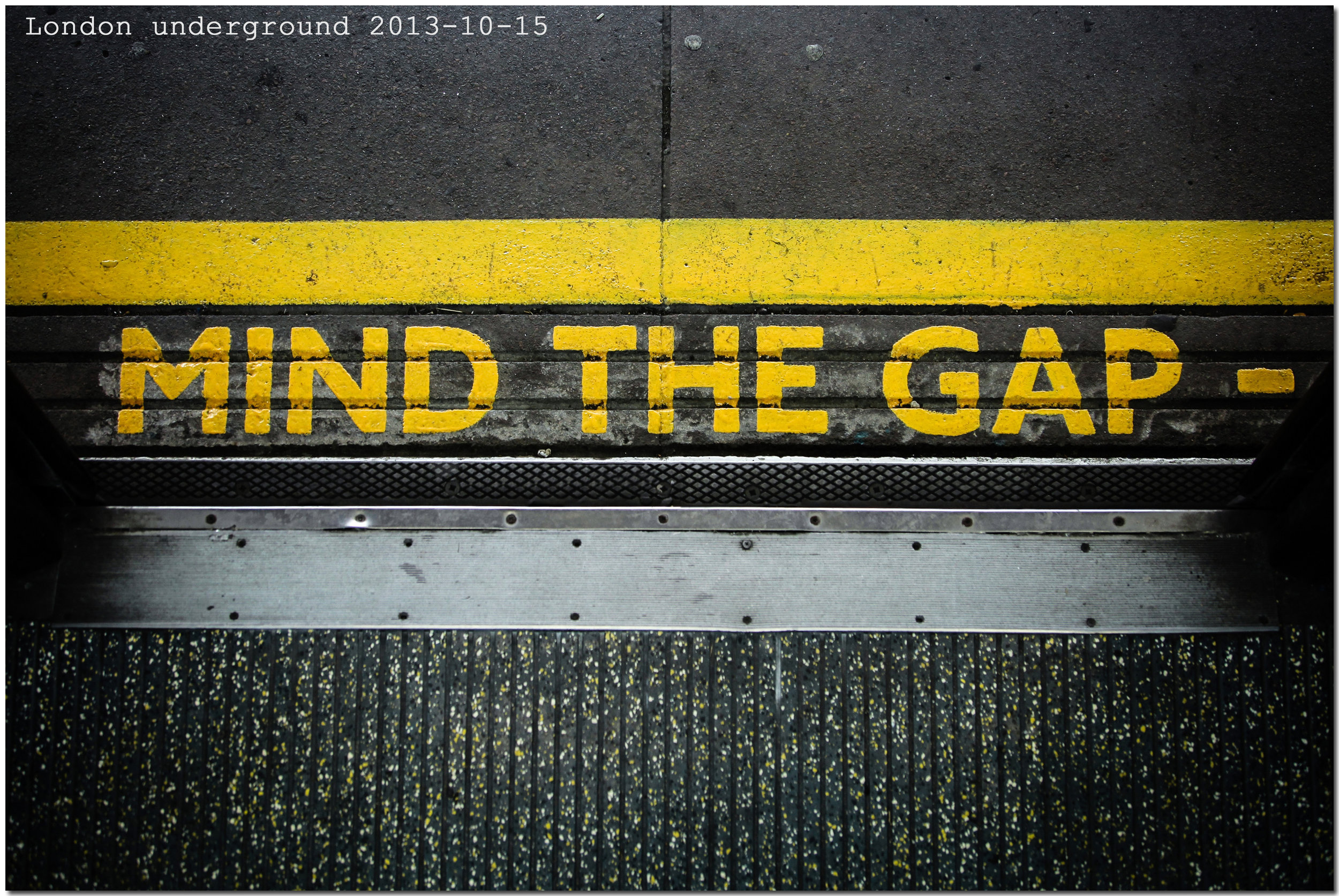 Mind the Gap is an audible and visual warning system on the London Underground to warn people of the gap between the train door and the station platform. It is also a great metaphor for the space between—in business and in life.