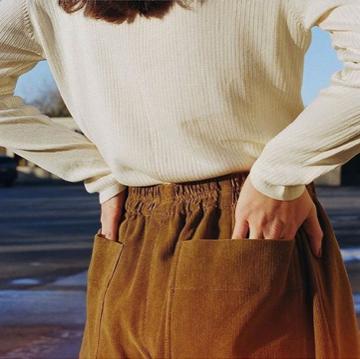 I like the corduroy + pockets combo. Pants by Kordal.
