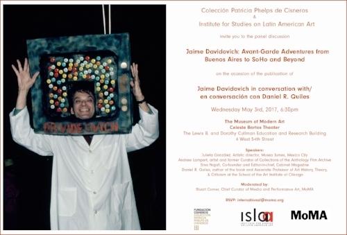 ISLAA - Website - Initiatives - Post 59 - Flyer - Jaime Davidovich Avant-Garde Adventures at MoMA.jpg