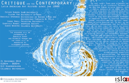 ISLAA - Website - Initiatives - Post 26 - Poster - Critique and the Contemporary.jpg