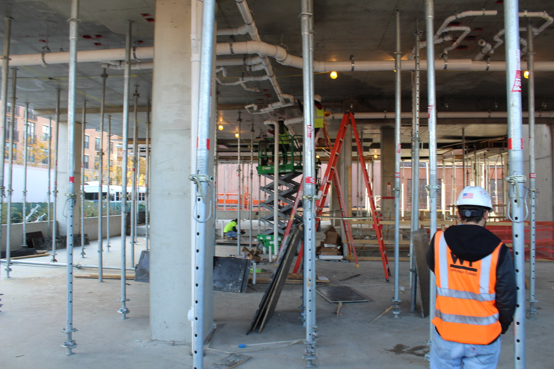 Looking into the future Bloom residential lobby on the south end of the building.