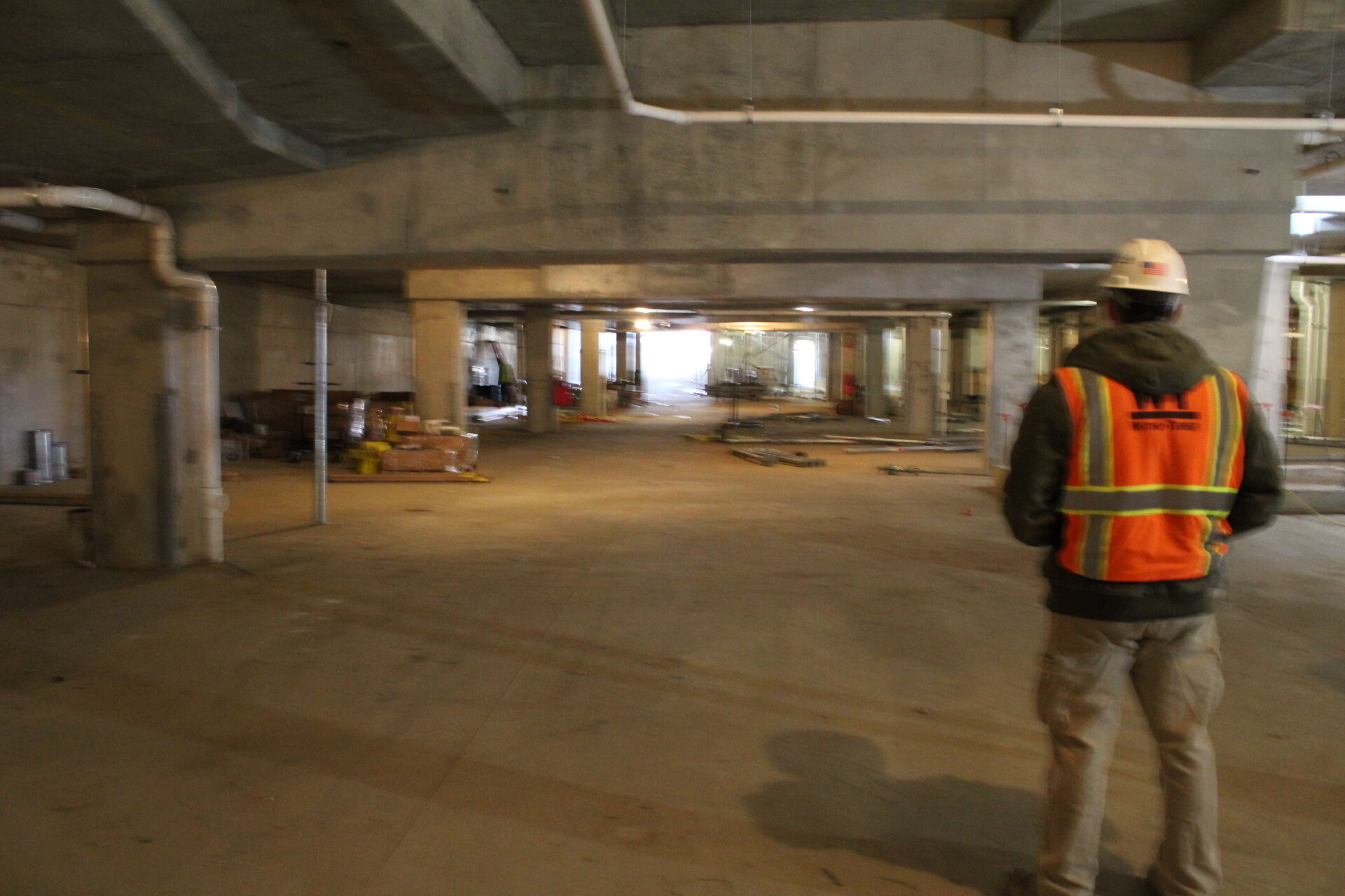 The underground parking garage will have spaces for both Carpenter's Shelter and AHDC to share, with separated elevator entrances into each half of the building.