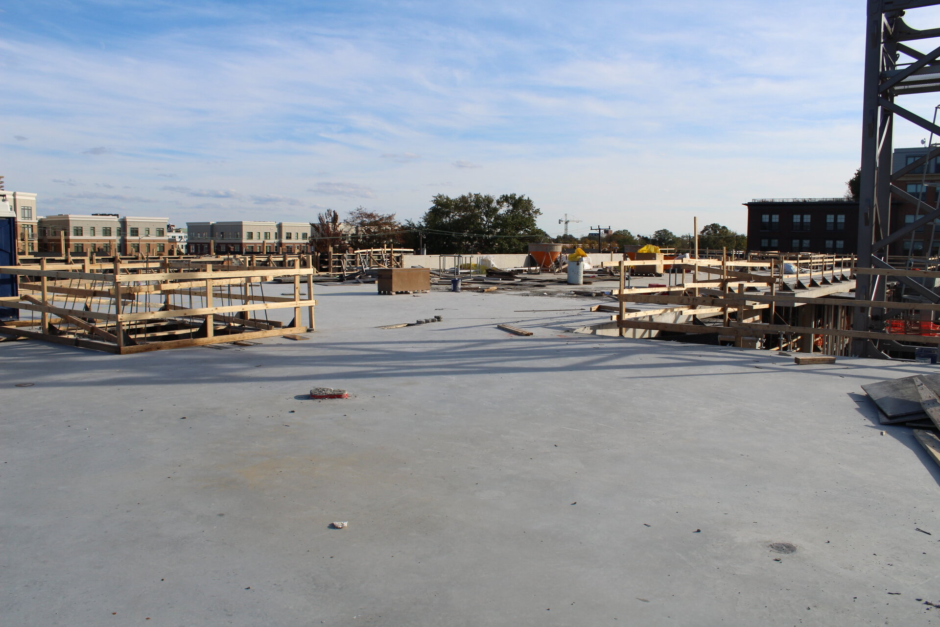 The third and top floor - for now. These sweeping views of Alexandria will be even better when all six floors are completed.
