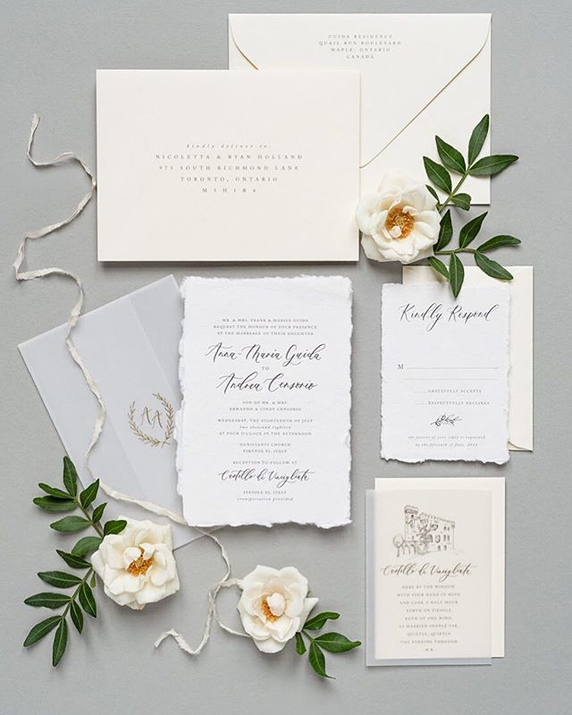 Flashback to this suite from last year for A&A. I loved creating all the details for this lovely couple -  from the venue illustration to the monogram vellum wrap...their Italian wedding was everything! . Photography by: @5ive15ifteen . . #moderncalligraphy #calligraphy #lettering #handlettering #torontocalligrapher #stylemepretty #thatsdarling #pursuepretty #risingtidesociety #risingtideyyz #chasinglight #flashesofdelight #theknot #makersmovement #petitejoys #loveauthentic #wedding #weddingcalligrapher #weddingdetails #fineartwedding #weddingstationery #weddingpaper #torontowedding #torontoevents #weddinginvitations #weddinginspiration #weddinginspo #torontobride #destinationwedding