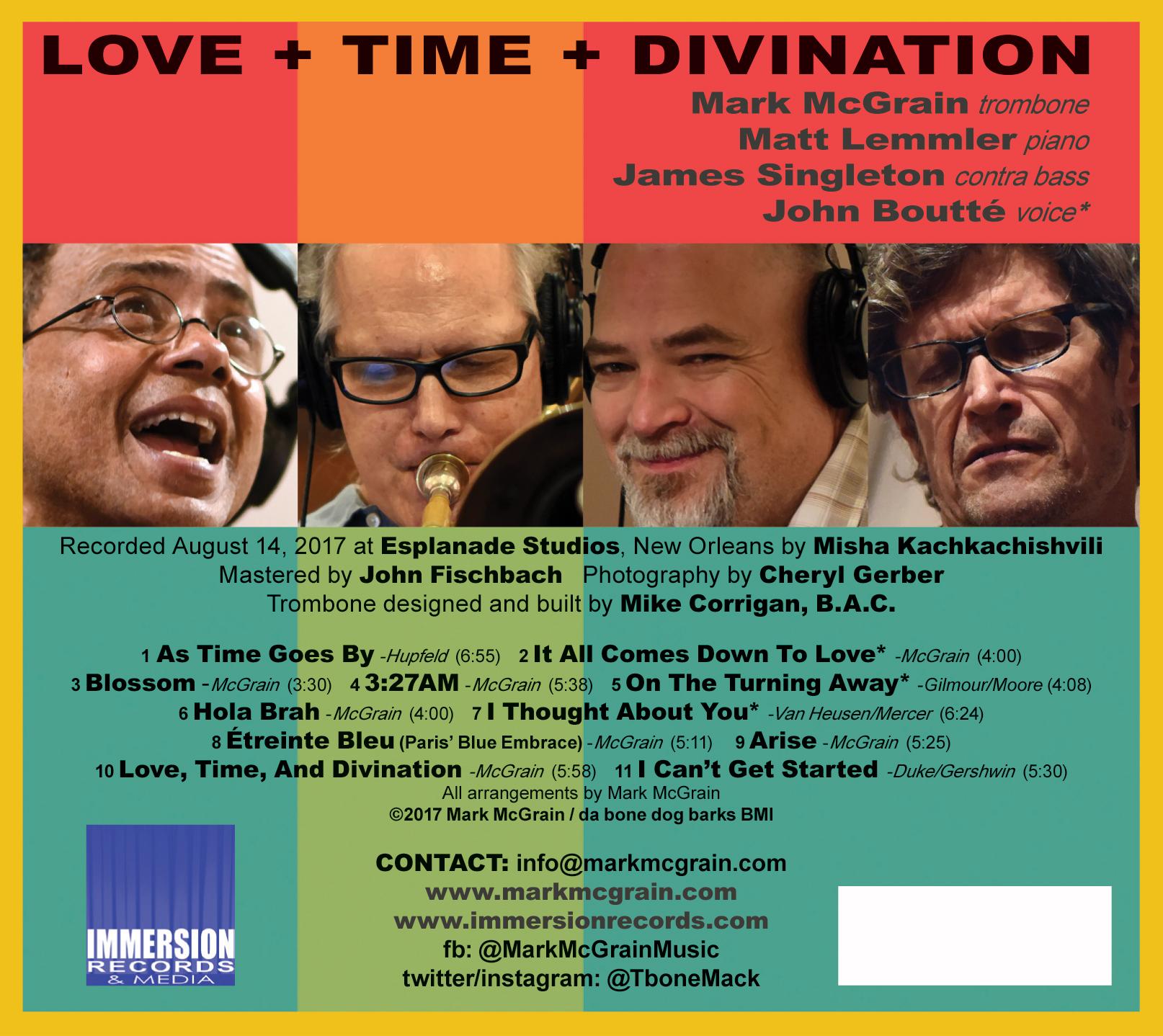 "Album Back: ""LOVE+TIME+DIVINATION"" by Mark McGrain"