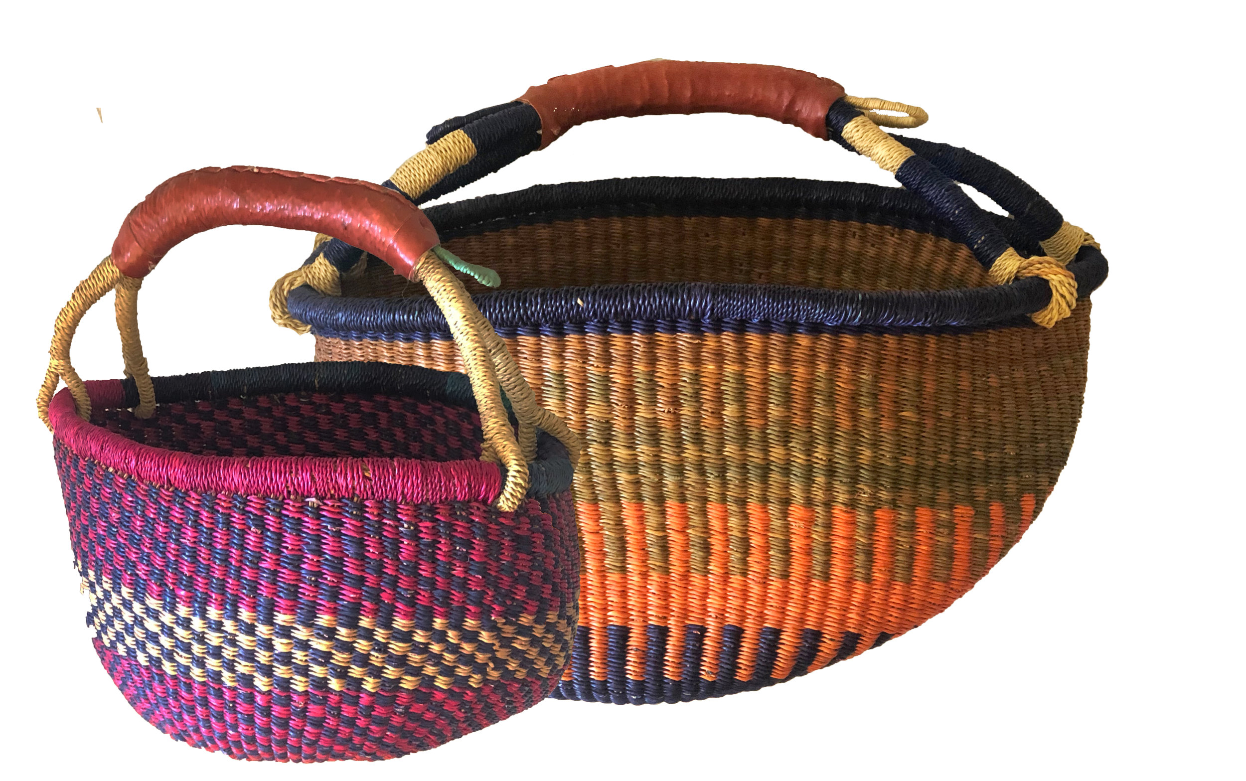 We even found these baskets from #GoFinding that are the perfect orange and navy.