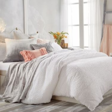 King Size Dot Fringe Duvet Cover- on sale $86.90   https://bit.ly/2YFHGOW