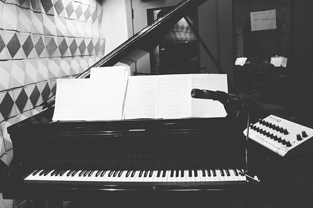 🎹recording piano for #ColoursofSound #throwback