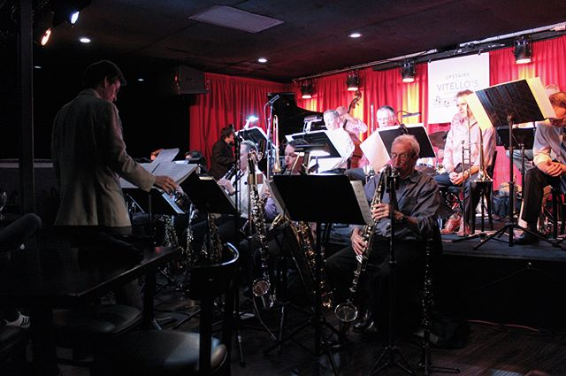 The @brentfischer_ Orchestra 🎷 #bigband Photos from the #LA album release concert for my new album #ColoursofSound #australia #losangeles @upstairsatvitellos Photos by @ruthtrumpets