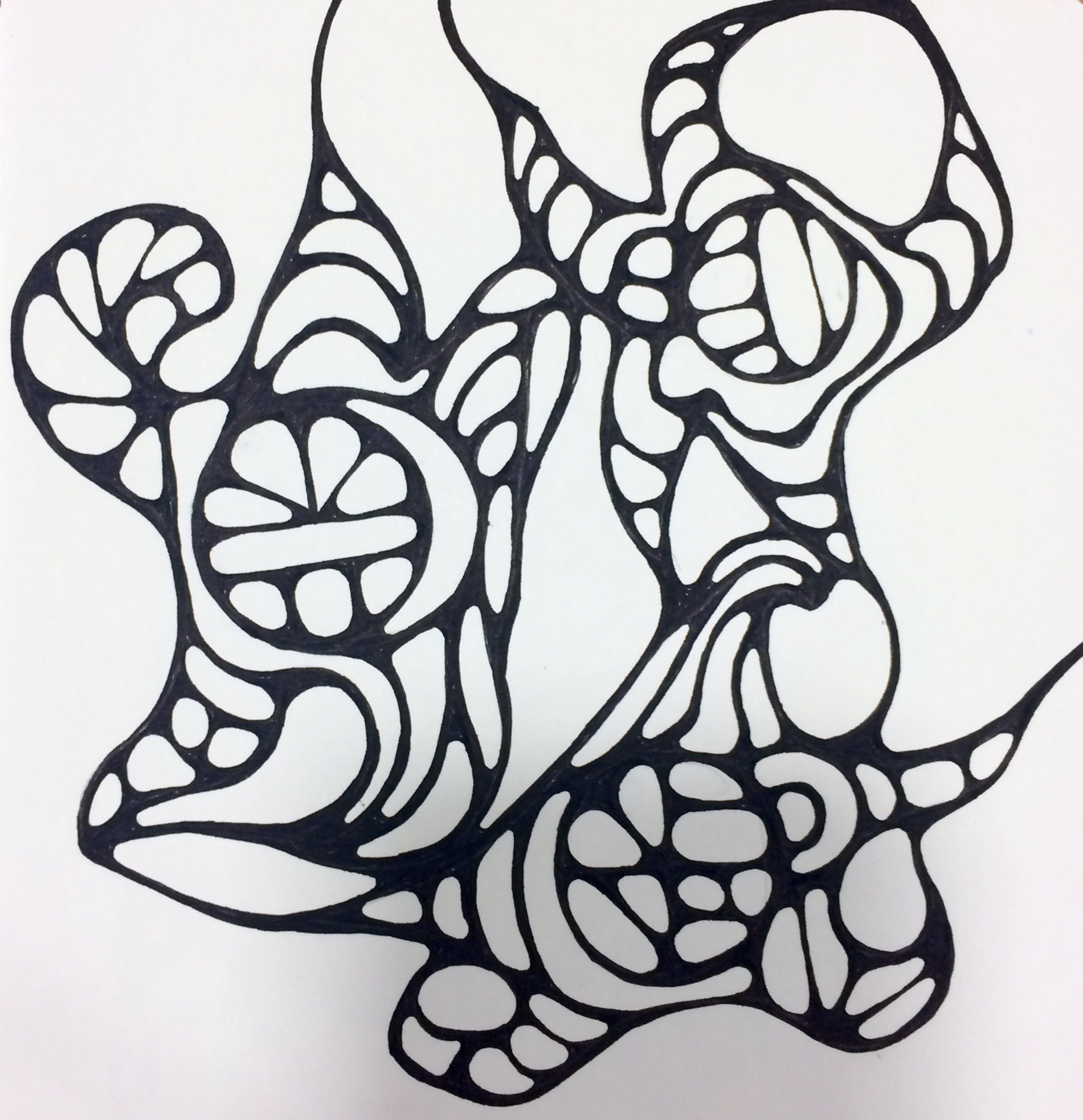 Autonomy , 2017, Ink on paper, 5.75 in x 5.75 in