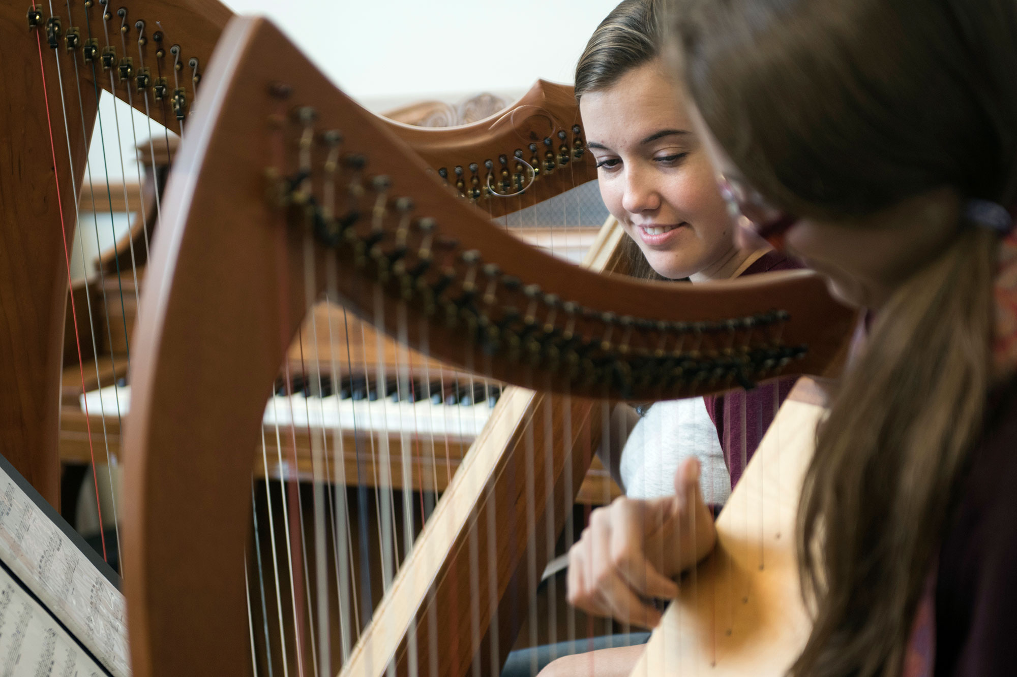 Quincy, MA - Haley teaches private harp lessons Mondays, Thursdays, and Fridays at her home studio in Quincy MA.
