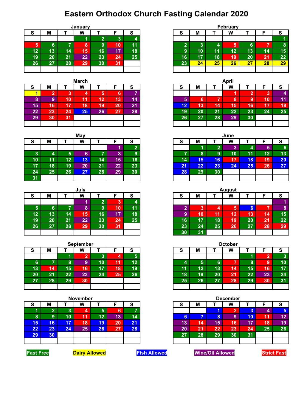 Orthodox Fasting Calendar 2022.Why Do Orthodox Fast During Lent