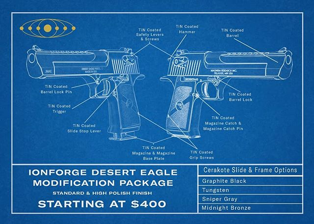 The underrated Desert Eagle mod package. We're going to have some custom @_tekmat_ mats made I think 🤔😁
