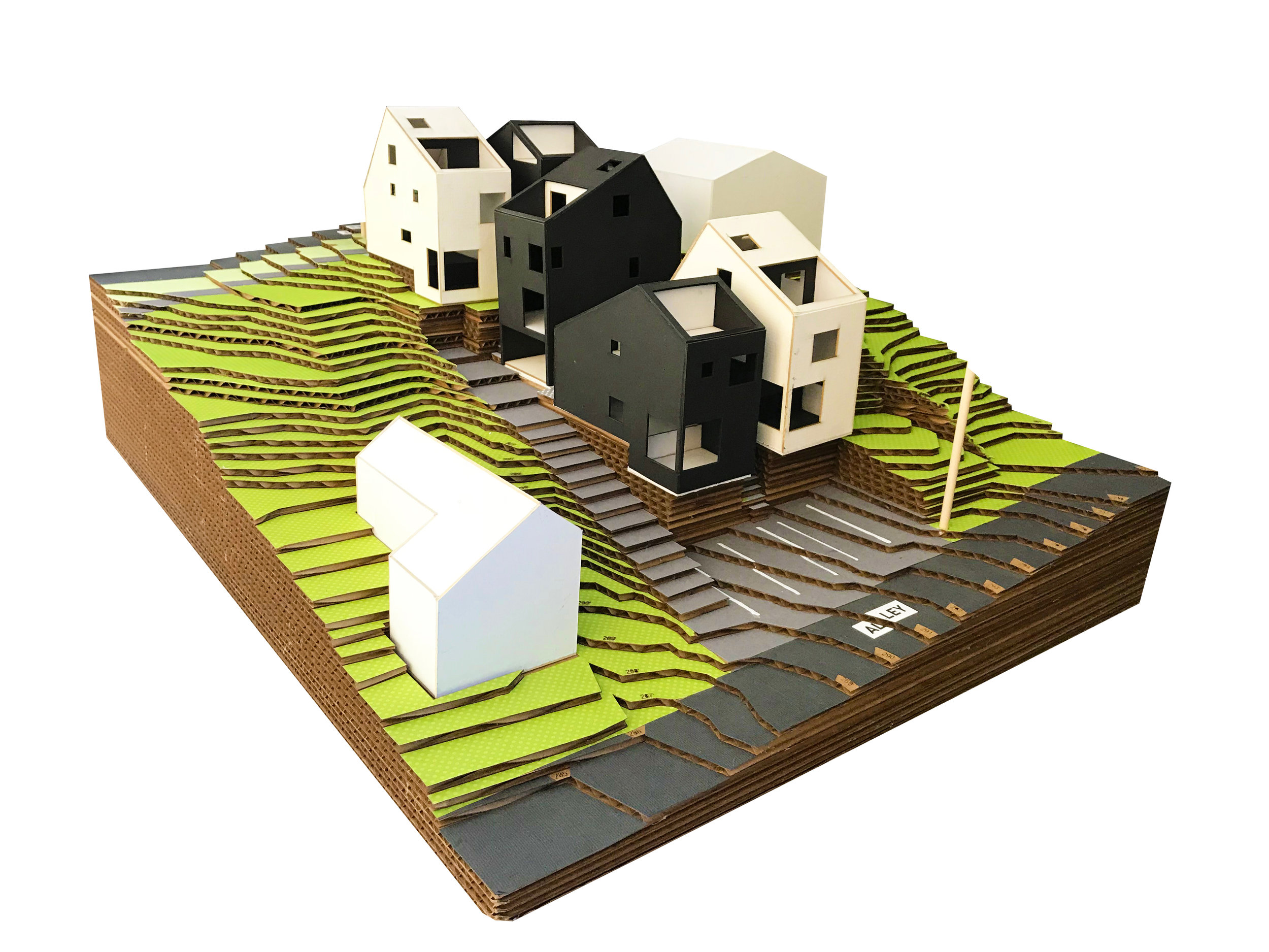 The project model helps to explain the interconnected spaces and geometries to owners, builders and future homeowners