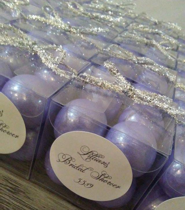 Never let anyone dull your sparkle ✨ #party #favor #lavender #silver #sparkle #bridalshower #event #details