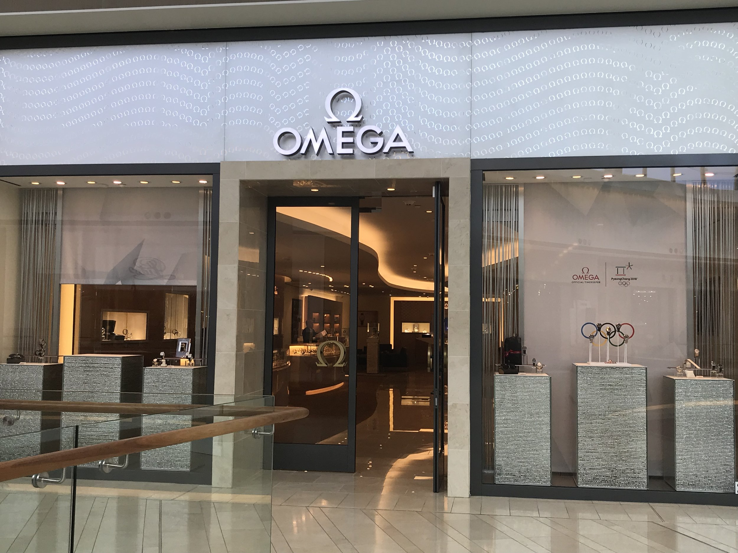 Complimentary 50ml OMEGA AQUA TERRA fragrance with a single purchase of $3,000 or more. -
