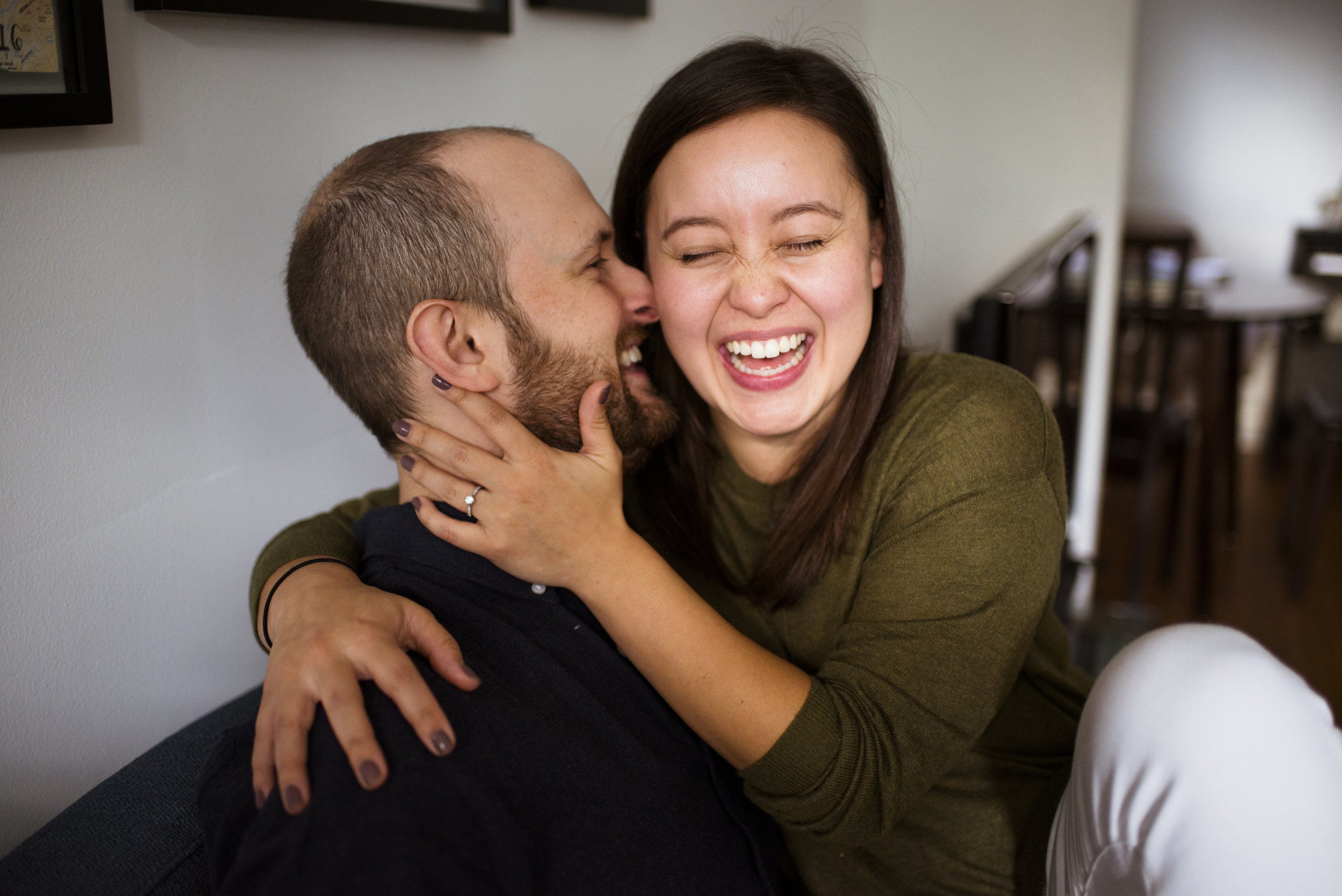 Toronto In-home engagement session