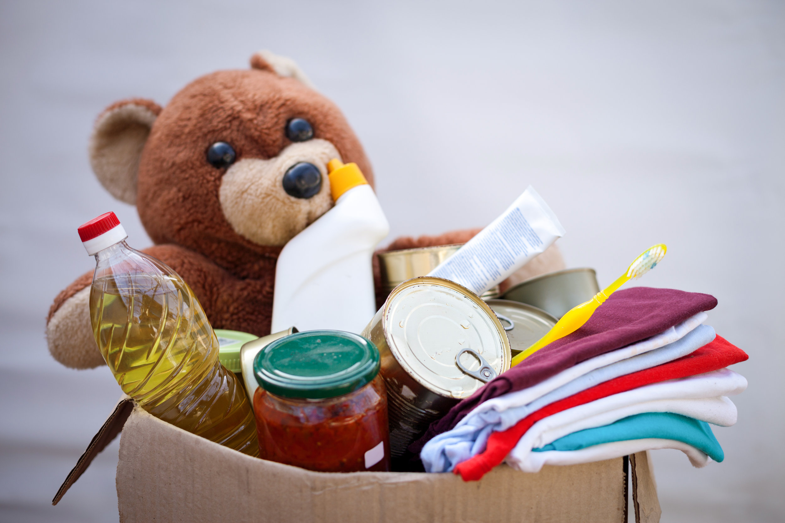 In-kind donations - Bring gently worn clothes, household goods and furniture. We will pick up large donations anywhere in Shiawassee or Genesee Counties.