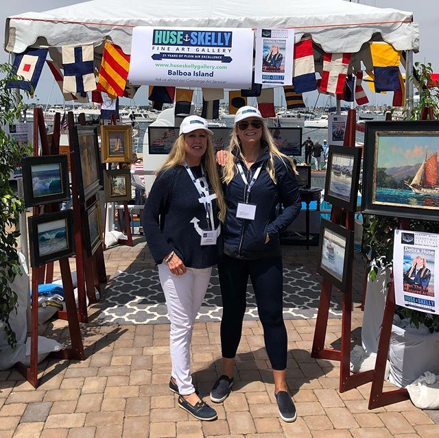 The Life of an Artist when you get to celebrate with the best partner, friend and long lost sister @debrahuseart and congrats Debra Huse as The Featured Artist @balboayachtclub and the 2019 #woodenboatshow - check out the star of the Event and her painting of John Wayne's classic boat 'The Wild Goose' (next pic, swipe left) @huseskellygallery has a few limited special edition giclees available - contact the gallery or come on in the gallery to collect your own and see all of @debrahuseart paintings  at huseskellygallery.com 949-723-6171  229 Marine Ave., Suite E  Balboa Island, CA 92662.  @huseskellygallery @laskelly @debrahuseart @balboayachtclub @newportbeach @woodenboatmagazine  #woodenboatshow #woodenboatshow2019 #chriscraft #johnwaynewildgoose #wildgooseboat #woodenboatmagazine #originalart #pleinairartist #pleinairmag #newportbeachharbor