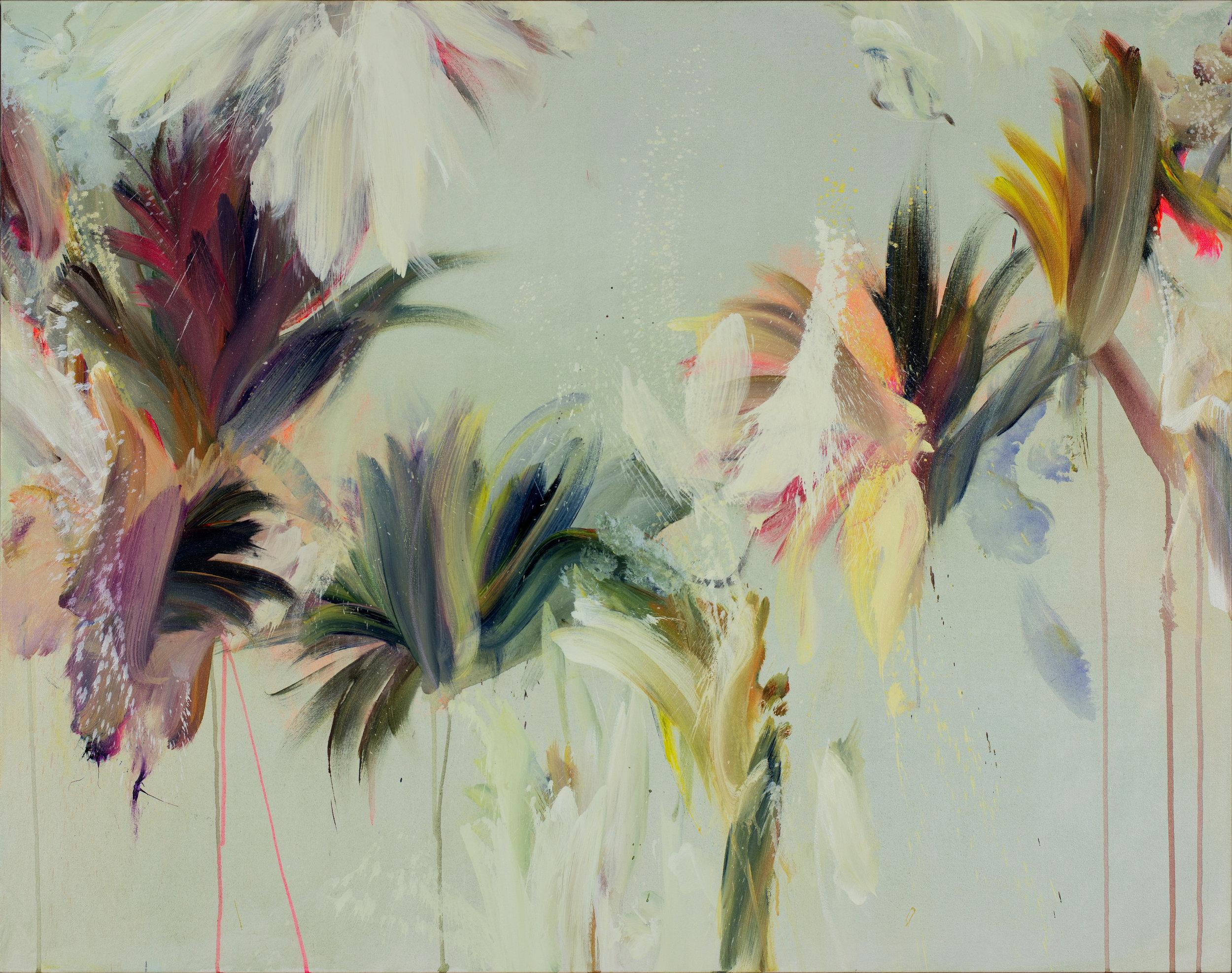"Breaking Diagonals   Mixed media on canvas (43""x55"")"